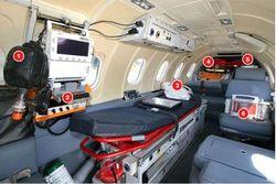 Ambulanz Flugzeug Innenausstattung