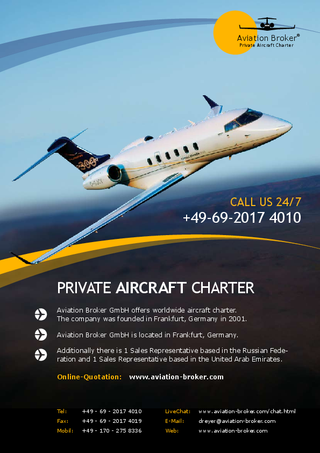 Aviation Broker im Prestige Cars & Luxury Magazin